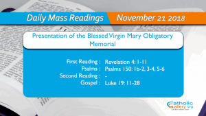 Daily Mass Readings – 2019 - Catholic Gallery