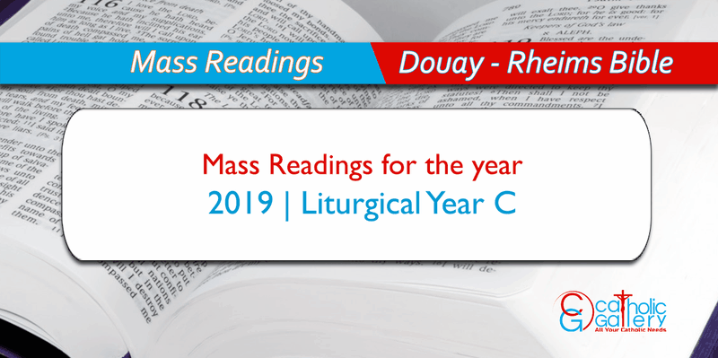image regarding New Mass Responses Printable named Day by day M Readings 2019 - Catholic Gallery
