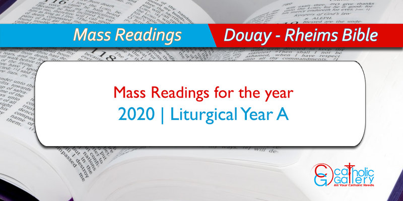Roman Catholic Liturgical Calendar 2020 Daily Mass Readings – 2020   Catholic Gallery