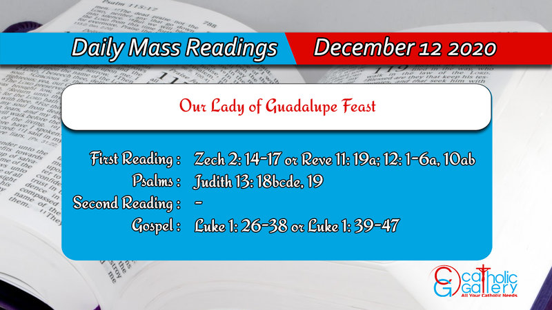 Catholic Online Daily Mass Readings 12th December 2020