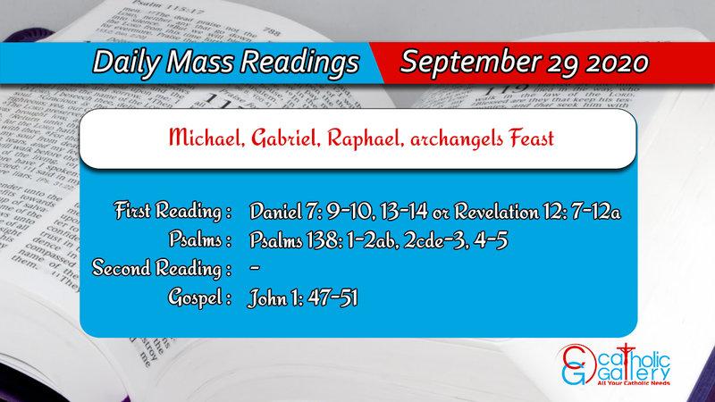Catholic Daily Mass Readings 29th September 2020 Today Tuesday