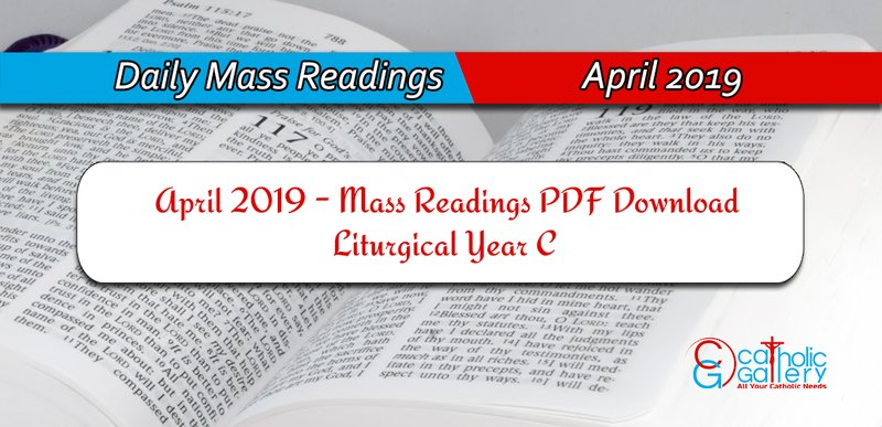 Download Mass Readings - April 2019 - Catholic Gallery