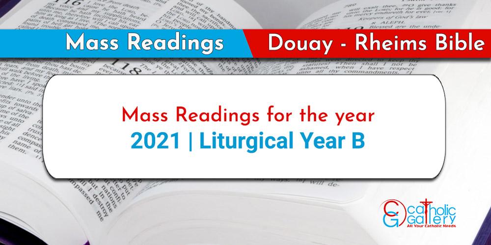 2022 Lectionary Calendar.Daily Mass Readings 2021 Catholic Gallery