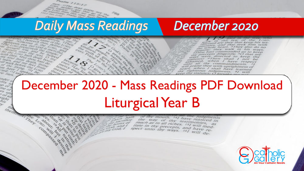 Christmas Midnight Mass Readings 2020 Download Mass Readings   December 2020   Catholic Gallery